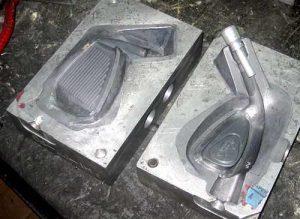 Términos de clubmaking - molde original de una cabeza de golf